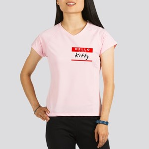 Kitty, Name Tag Sticker Performance Dry T-Shirt