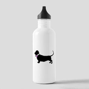Basset Hound Breast Cancer Su Stainless Water Bott