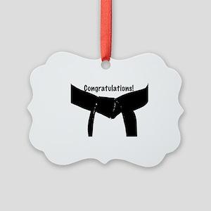 Black Belt Congratulations Picture Ornament