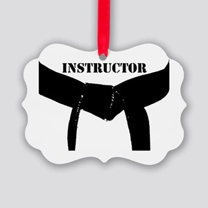 Martial Arts Instructor Picture Ornament