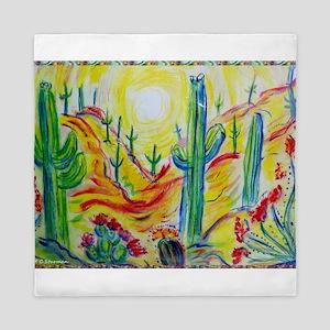 Saguaro Cactus, desert Southwest art! Queen Duvet