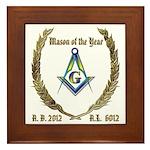 2012 Mason of the Year Framed Tile
