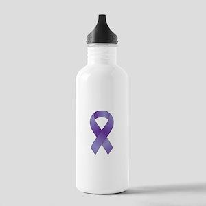 Epilepsy Awareness Ribbon Stainless Water Bottle 1