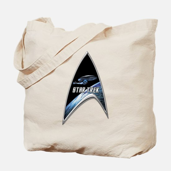 StarTrek Command Silver Signia voyager.png Tote Ba