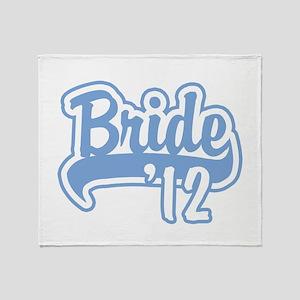 Baseball Blue Bride 2012 Throw Blanket