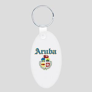 Aruba designs Aluminum Oval Keychain