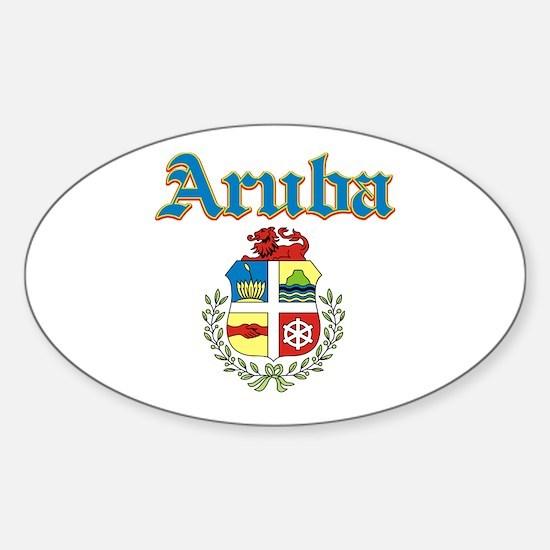 Aruba designs Sticker (Oval)