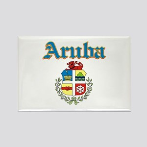 Aruba designs Rectangle Magnet