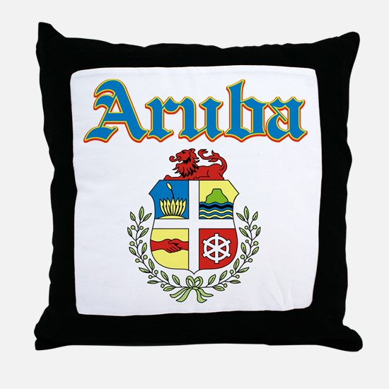 Aruba designs Throw Pillow