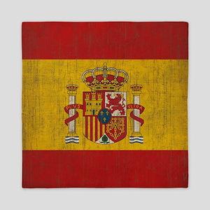 Vintage Spain Flag Queen Duvet