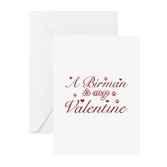 A Birman is my valentine Greeting Cards (Pk of 10)