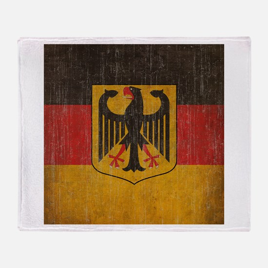 Vintage Germany Flag Throw Blanket