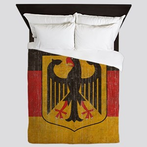Vintage Germany Flag Queen Duvet