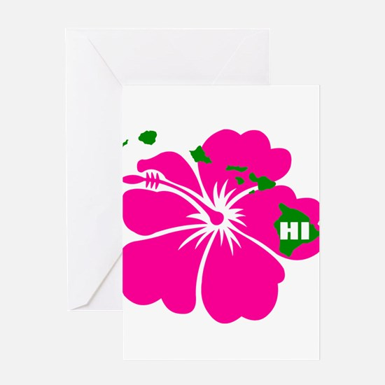 Hawaii Islands & Hibiscus Greeting Card