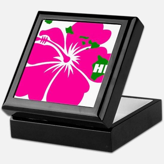 Hawaii Islands & Hibiscus Keepsake Box