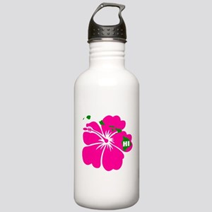 Hawaii Islands & Hibiscus Stainless Water Bottle 1