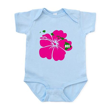 Hawaii Islands & Hibiscus Infant Bodysuit
