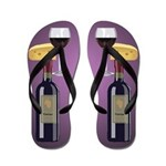 Wine & Cheese Flip Flops