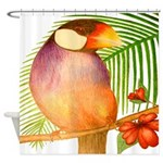 Java Sparrow Shower Curtain