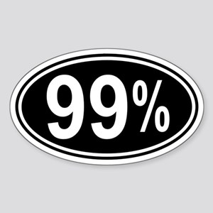 99 Percent Sticker (Oval 10 pk)
