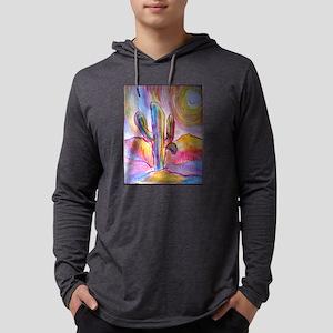 Saguaro cactus, southwest art Mens Hooded Shirt