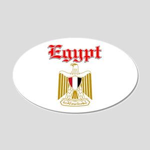 Egypt designs 22x14 Oval Wall Peel