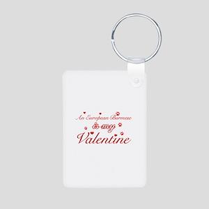 An European Burmes is my Valentine Aluminum Photo