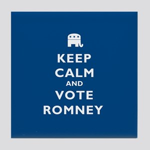 Keep Calm And Vote Romney Tile Coaster