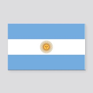 Argentina Flag Rectangle Car Magnet