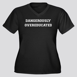 Dangerously Overeducated Women's Plus Size V-Neck