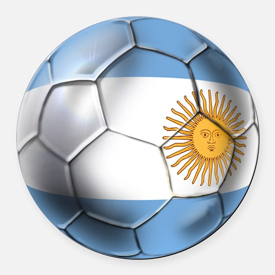 Argentina Football Round Car Magnet