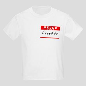 Cosette, Name Tag Sticker Kids Light T-Shirt