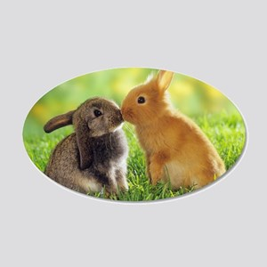 Love Bunnies 22x14 Oval Wall Peel