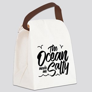 The Ocean Made Me Salty Canvas Lunch Bag
