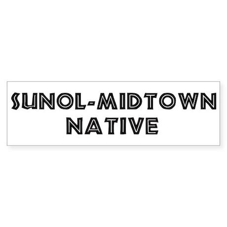 Sunol-Midtown Native Bumper Sticker