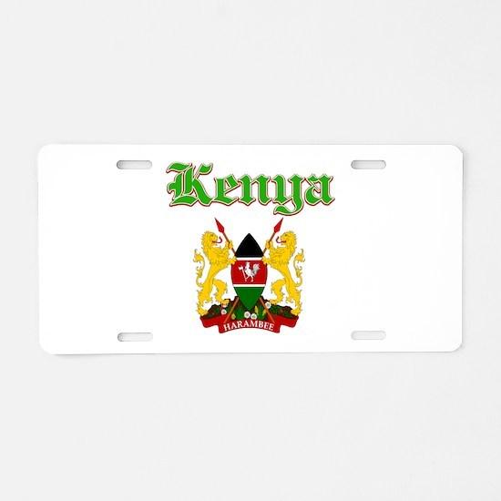 Kenya designs Aluminum License Plate