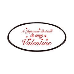 A Japanese Bobtail is my valentine Patches