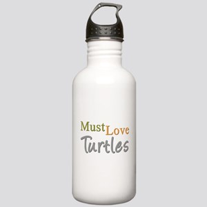 MUST LOVE Turtles Stainless Water Bottle 1.0L