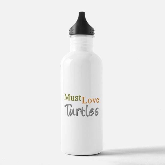 MUST LOVE Turtles Water Bottle
