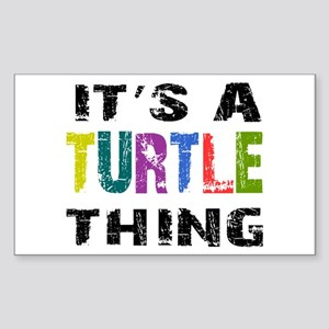 Turtle THING Sticker (Rectangle)