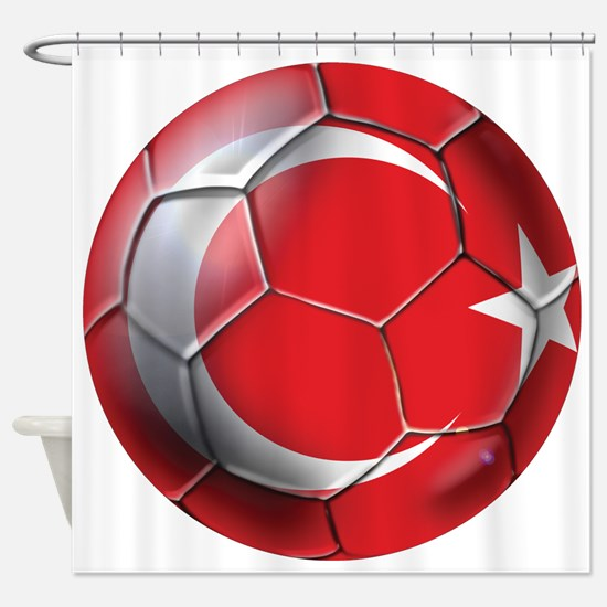 Turkish Football Shower Curtain