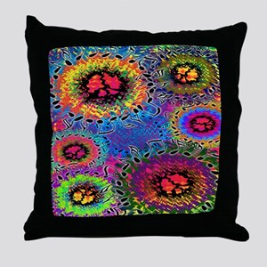 Sound Colors Psychedelic Throw Pillow