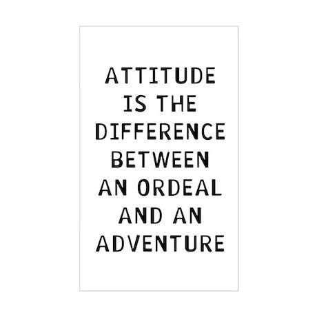Attitude Sticker (Rectangle) by LabelMakers