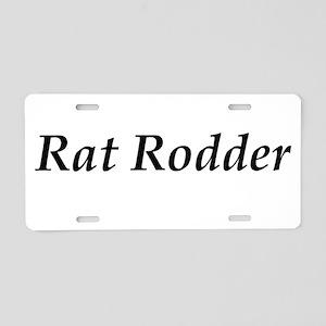 Rat Rodder Aluminum License Plate