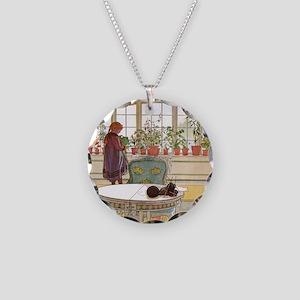Little Gardener Necklace Circle Charm
