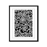 Rose Flower Power Framed Panel Print