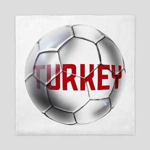 Turkey Soccer Ball Queen Duvet