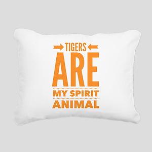 Tigers are my Spirit Ani Rectangular Canvas Pillow