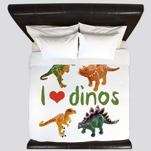 I Love Dinos King Duvet