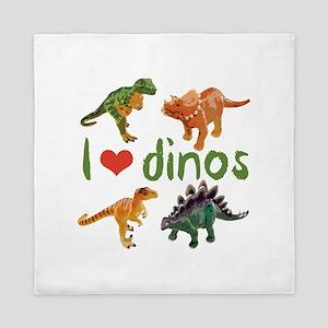 I Love Dinos Queen Duvet